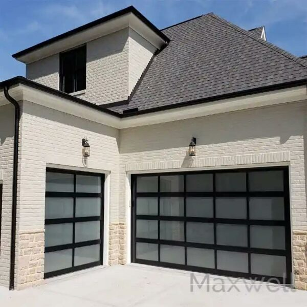 Automatic Electric Glass Garage Door Fit in Villa house