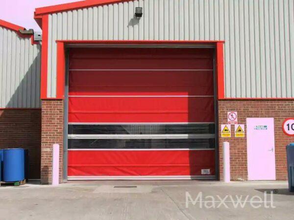 Red High Speed Electric Door Opening