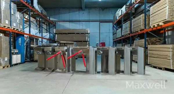 Steel Tripod Turnstile Barriers with Remote